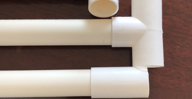 PVC extruding tube used for building electric wires passed